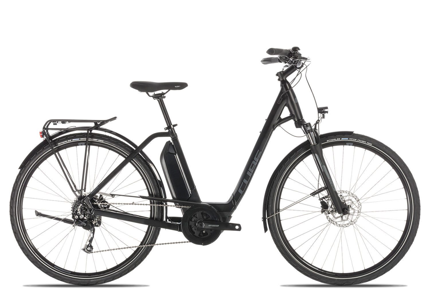Cube Town Sport Hybrid ONE 400 Wave 2019 | 50 cm | black'n'grey