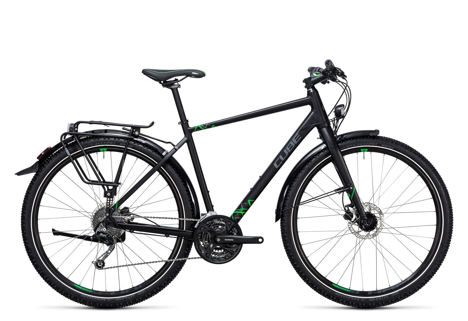 Cube Travel Herren 2017 | 46 cm | black'n'green