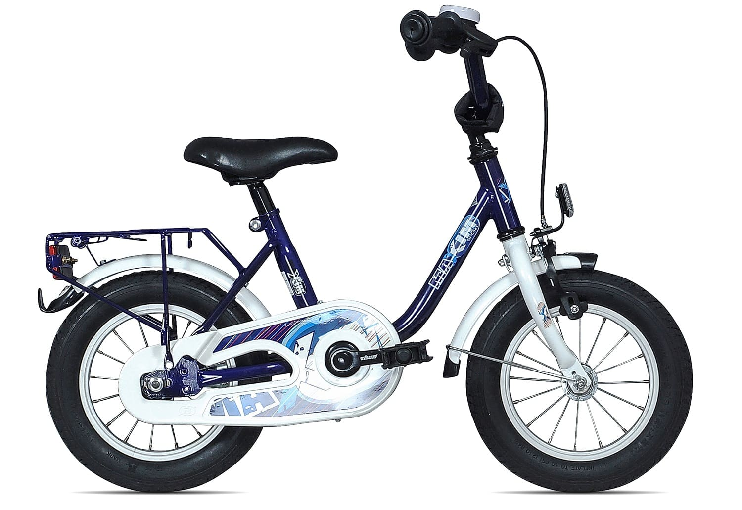 maxim kinderfahrrad 12 5 zoll 23 cm blau wei. Black Bedroom Furniture Sets. Home Design Ideas