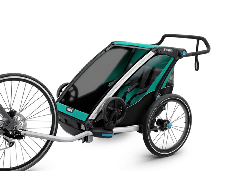 thule chariot lite kindersportwagen 2 kinder bluegrass jetzt bestellen lucky. Black Bedroom Furniture Sets. Home Design Ideas